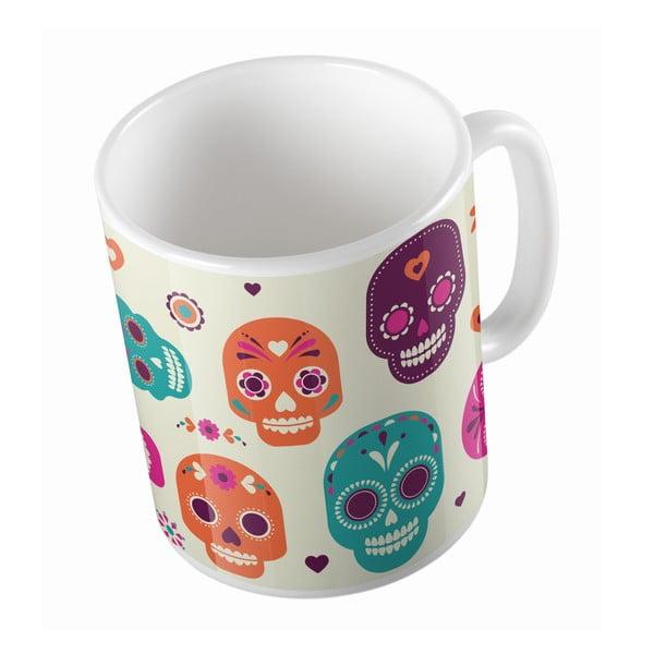 Ceramiczny kubek Sugar Skull, 330 ml