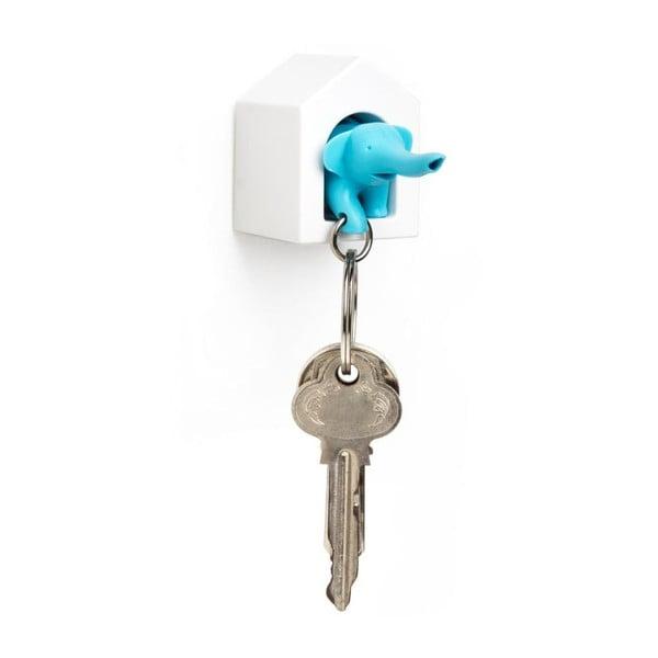 Wieszak na klucze ze słoniem, niebieski