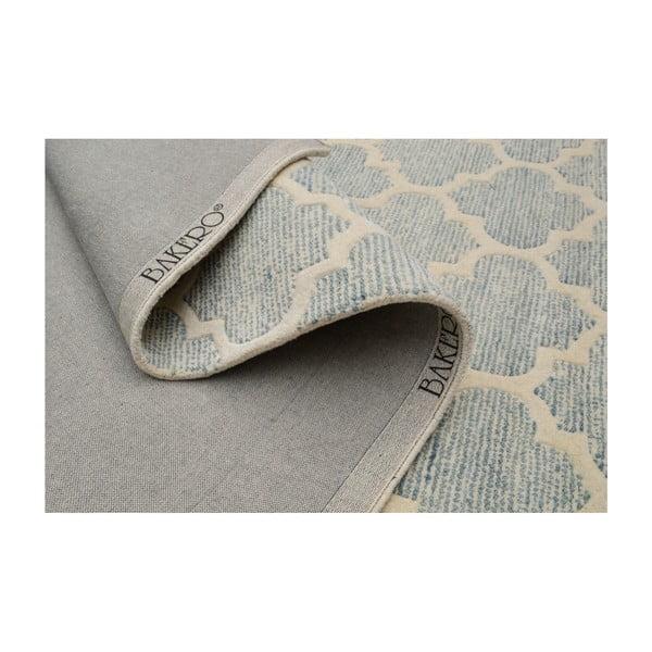Jasnoniebieski dywan tuftowany ręcznie Bakero Diamond, 183x122 cm
