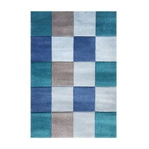 Niebieski dywan dziecięcy Happy Rugs Patchwork, 120x180 cm