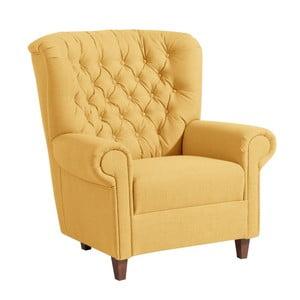 Żółty fotel Max Winzer Vicky