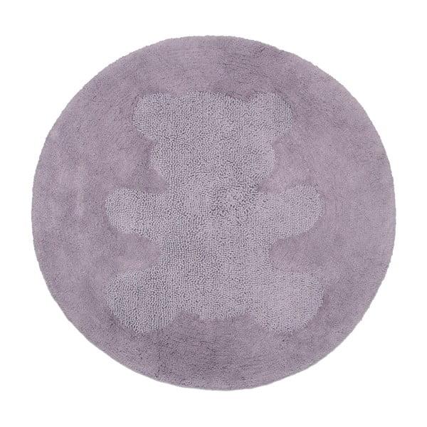 Fioletowy dywan dziecięcy Sweet Teddy, Ø100 cm