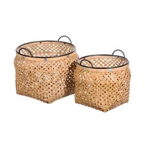 Zestaw 2 koszy z bambusu Tropicho