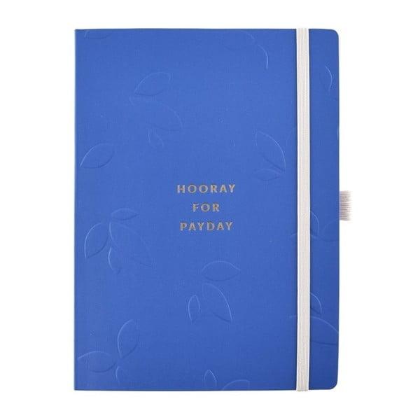 Niebieski notes do zapisywania rachunków i oszczędności Busy B