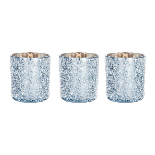 Zestaw 3 lampionów Snowy Ice Blue