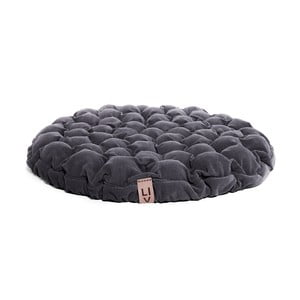 Niebieskoszara poduszka do siedzenia wypełniona piłeczkami do masażu Linda Vrňáková Bloom, Ø 75 cm