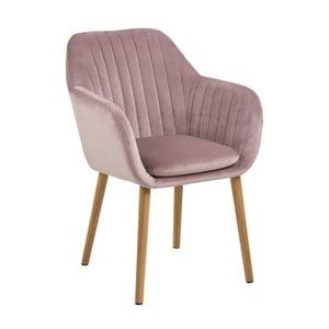 Różowe krzesło Actona Emilia Vic