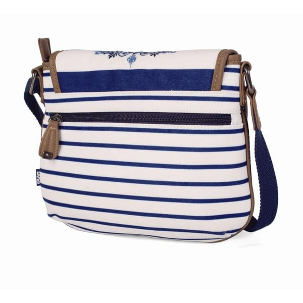 Niebiesko-biała torebka Lois, 25 x 20 cm