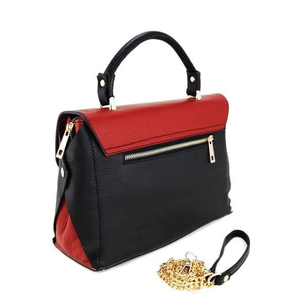 Skórzana torebka Cherie Nero/Rosso