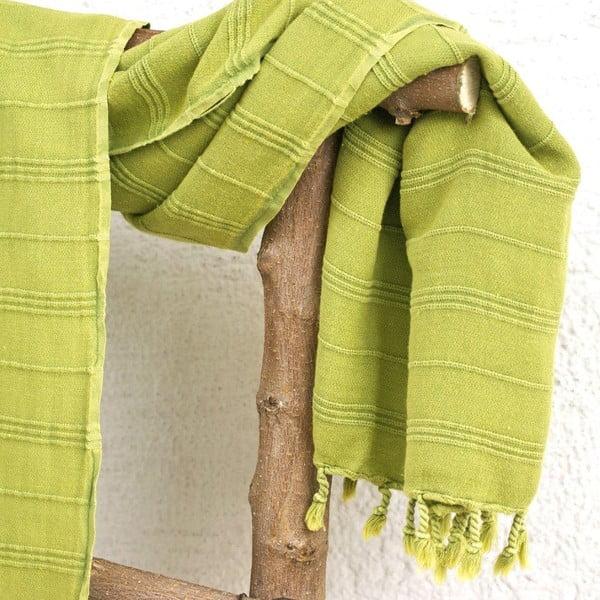 Ręcznik hamam Peshtemal Green, 90x165 cm