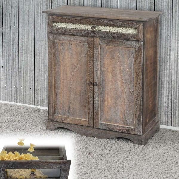 Brązowa szafka Mendler Shabby Vintage, 77x66x32 cm