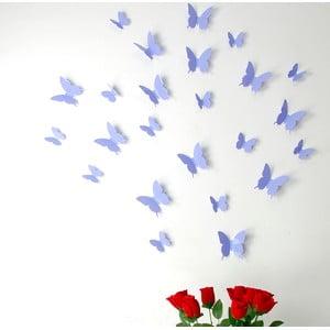 Zestaw 12 naklejek 3D Ambiance Butterflies