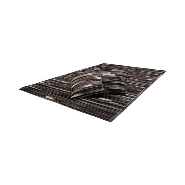 Poduszka skórzana Eclipse Brown, 45x45 cm