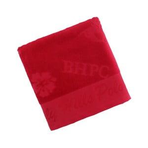 Ręcznik bawełniany BHPC Velvet 50x100 cm, czerwony