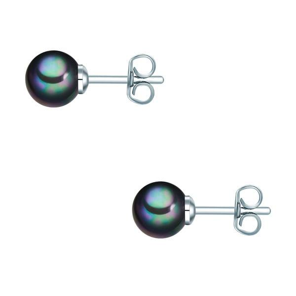 Kolczyki z grafitowych pereł Perldesse Muschel, ⌀ 6 mm