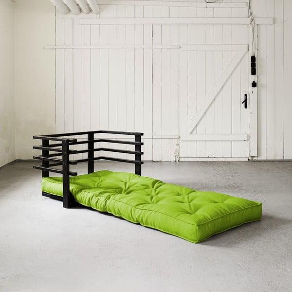 Fotel rozkładany Karup Funk Black/Lime