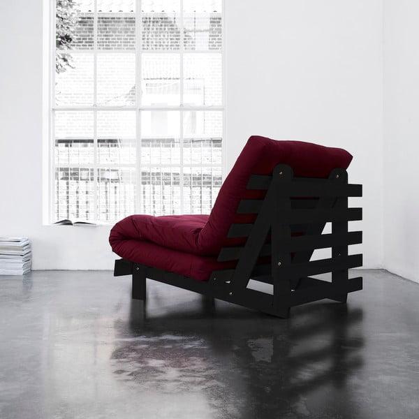 Fotel rozkładany Karup Roots Wenge/Bordeaux