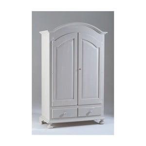 Biała 2-drzwiowa szafa drewniana Castagnetti Nadine