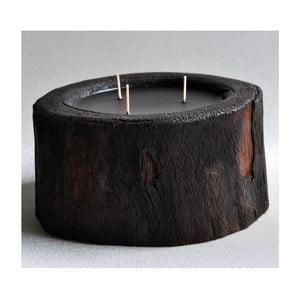 Palmowa świeczka Legno Dark o zapachu lilii wodnej, 100 godz.