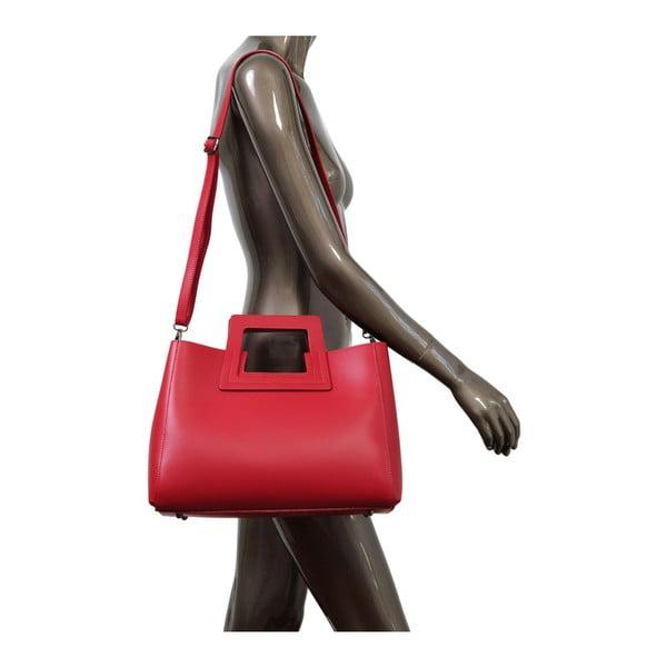 Czerwona torebka skórzana Andrea Cardone Pietro