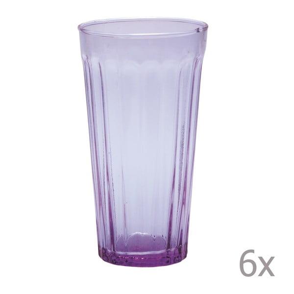 Zestaw 6 wysokich szklanek Lucca Lila, 500 ml