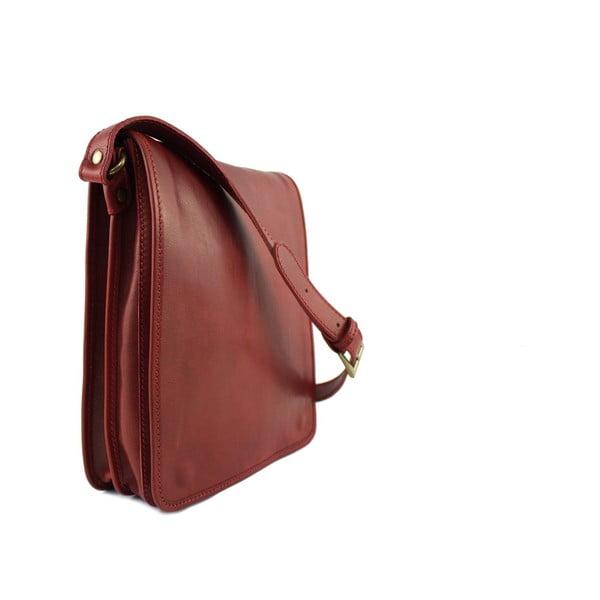 Skórzana torebka unisex Inala Rosso