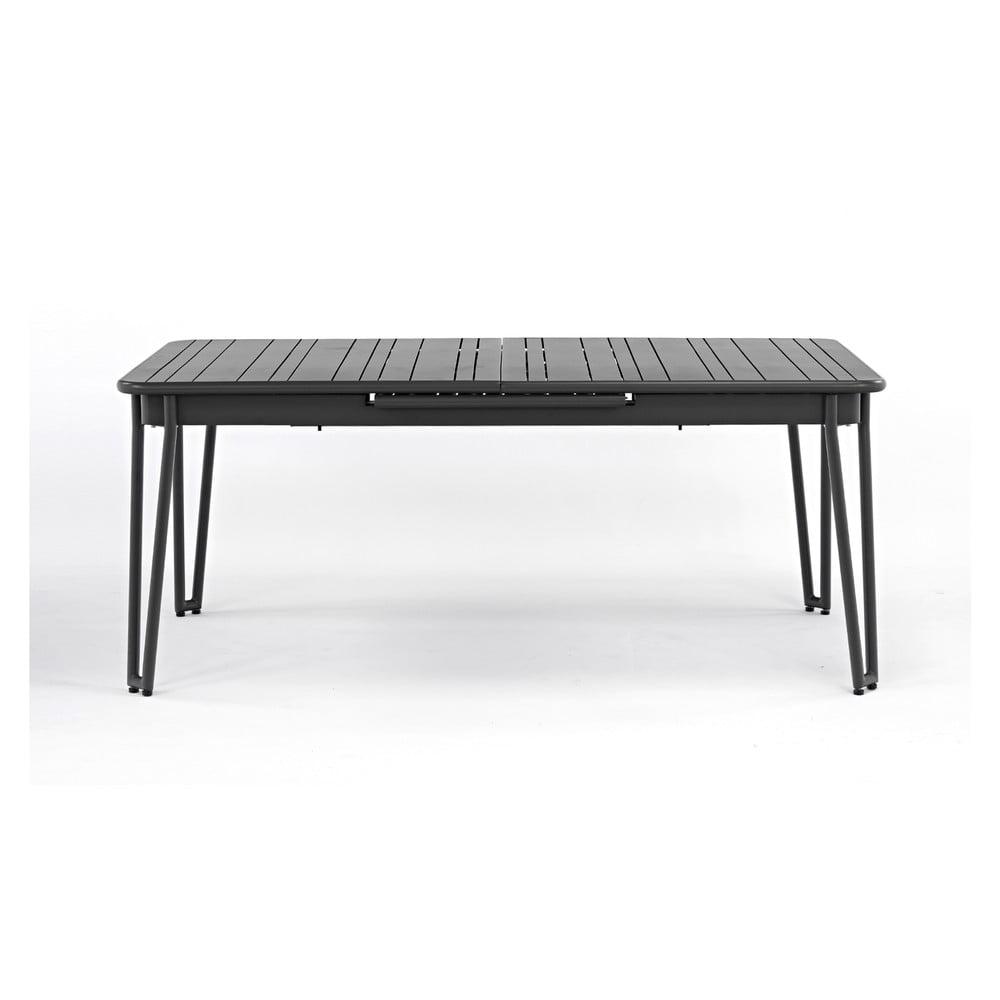 Szary rozkładany stół ogrodowy dla 6-8 osób Ezeis Ambroise, dł. 183/242 cm