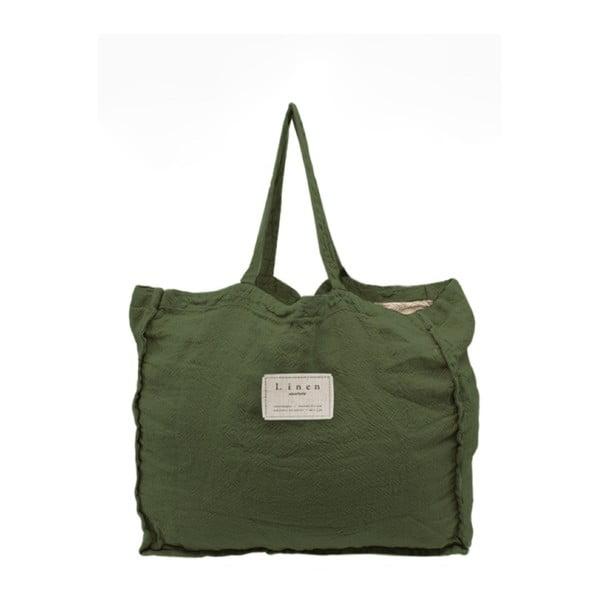 Torba tekstylna Linen Couture Green Moss, szer. 50 cm