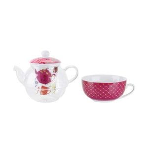 Zestaw do herbaty Pink, czajnik i kubek