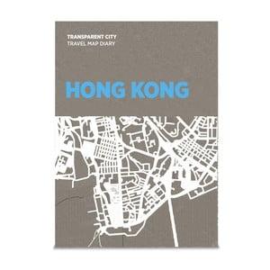 Mapa Hong Kongu z przezroczystymi kartkami na notatki Palomar Transparent City