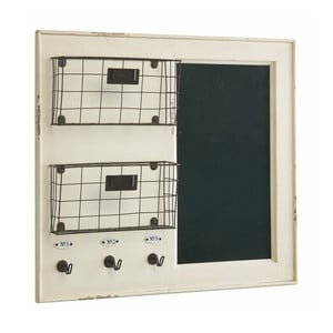 Tablica ścienna z koszykami White, 55x62 cm