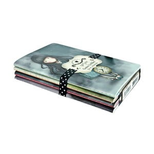 Zestaw 4 notesów Santoro London Gorjuss Scribbles