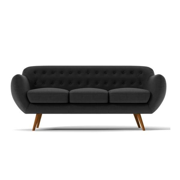 Trzyosobowa sofa Indigo, ciemnoszara