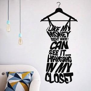Naklejka dekoracyjna Dress on Hanger, 57x26 cm