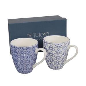 Kubki Nippon Blue Stripe & Flower, 2 szt.