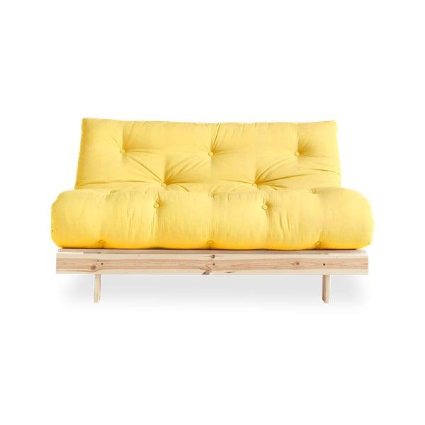 Sofa rozkładana Karup Design Roots Raw/Yellow