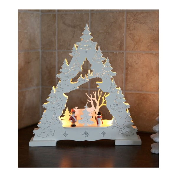 Biała dekoracja świecąca Best Season Glitter Tree