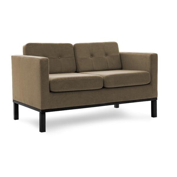 Sofa dwuosobowa VIVONITA Jonan Light Brown, czarne nogi