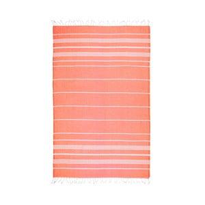 Pomarańczowy ręcznik hammam Kate Louise Classic, 180x100 cm