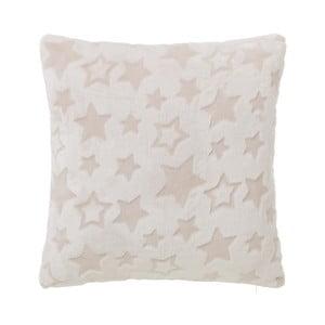 Kremowa poduszka w gwiazdki Unimasa, 45x45 cm