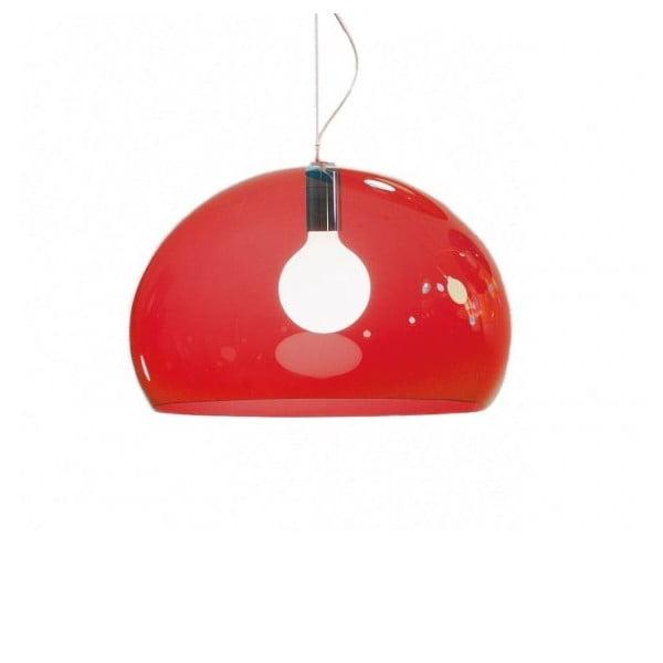 Czerwona lampa wisząca Kartell Fly