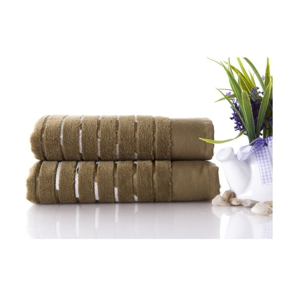 Zestaw 2 ręczników Sport Green, 50x90 cm