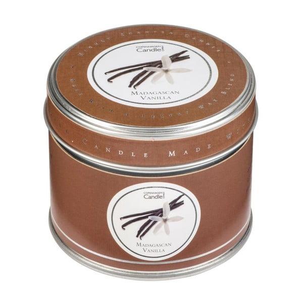 Świeczka zapachowa w puszce Copenhagen Candles Madagascan Vanilla, czas palenia 32 godziny