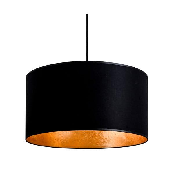 Lampa wisząca Tres, złoto-czarna, średnica 36 cm