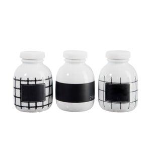 Zestaw 4 porcelanowych buteleczek B&W