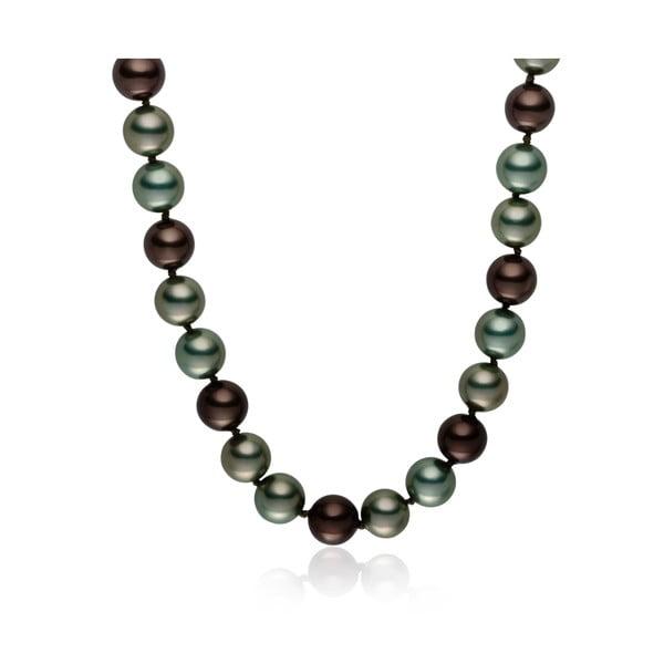 Szaro-zielony   naszyjnik z pereł Pearls of London Mystic, dł. 50 cm