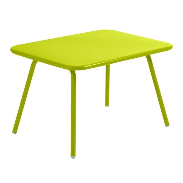 Limonkowy stół dziecięcy Fermob Luxembourg