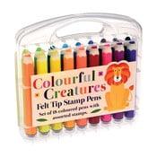 Zestaw 18 flamastrów RexLondon Colourful Creatures
