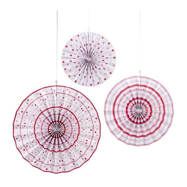 Papierowa dekoracja Pinwheel, 3 szt.