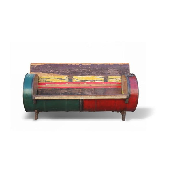 Sofa drewniana retro Bidone